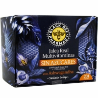 JALEA BLACK BEE MULTIVITAMINAS SIN AZÚCARES 20 AMPOLLAS